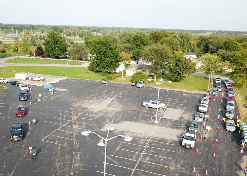 Aerial View of the Drive-In