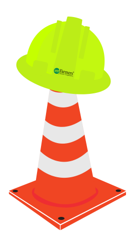 Hardhat and safety cone